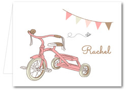 Note Cards: Pink Tricycle