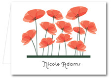 Note Cards: Red Poppies