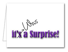 Note Cards: Purple Dot Surprise Party