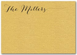 Shimmery Gold Flat Notes