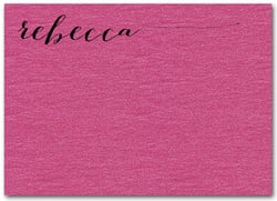 Shimmery Hot Pink Flat Notes