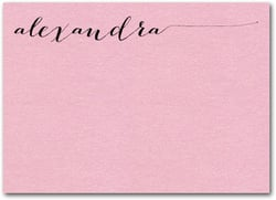 Shimmery Pink Flat Notes