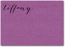 Shimmery Purple Flat Notes