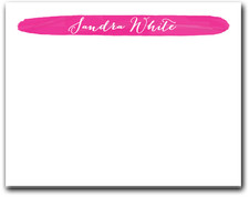 Brushed Hot Pink Flat Note