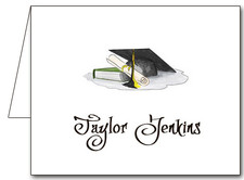 Note Cards: Black-Yellow Graduation