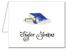 Note Cards: Blue-Gray Graduation