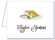 Note Cards: Gold-Yellow Graduation