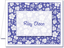 Note Cards: Blue Hawaiian Floral