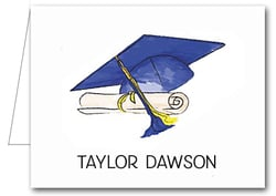 Note Cards: Blue-Yellow Graduation