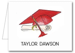 Note Cards: Red-White Graduation