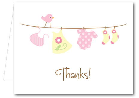 Personalized Baby Thank You Notes | Baby Note Cards