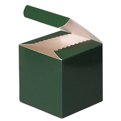 Gloss Green Favor Box 3""