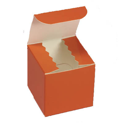 Gloss Orange Favor Box 2""