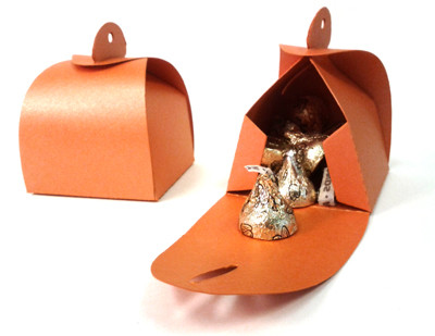 Shimmery Orange Favor Box Large