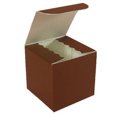 Gloss Brown Favor Box 3""