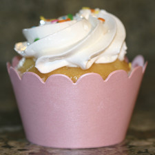 Shimmery Baby Pink Cupcake Wrappers