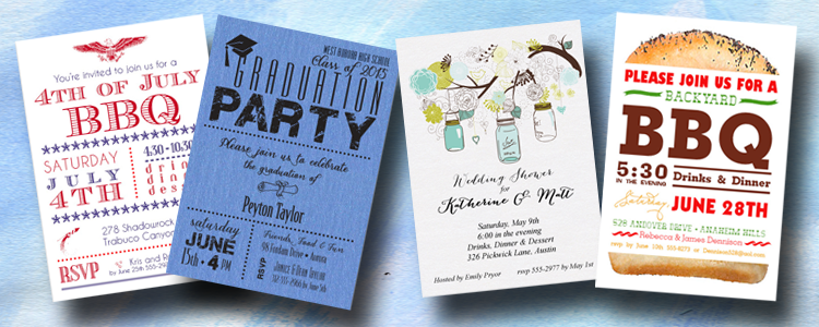 Shop Party Invitations for all Occasions