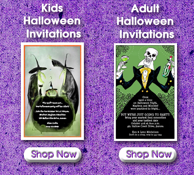 Shop Halloween Party Invitations for Kids and Adults