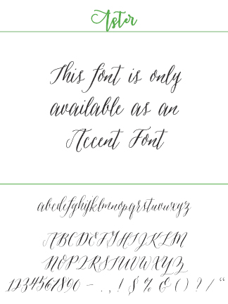 Font Aster