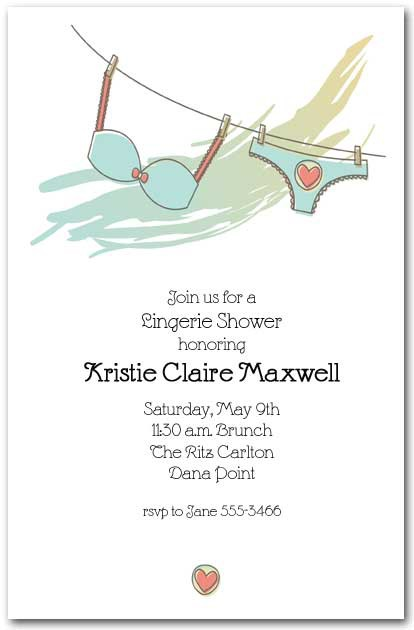 Seafoam Lingerie Bridal Shower