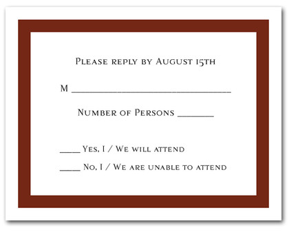 Brown Border RSVP Card #5