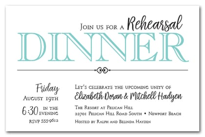 Tiffany Blue Rehearsal Dinner