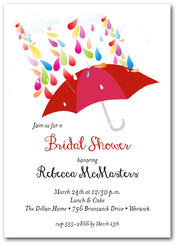 Raindrops Red Umbrella Bridal