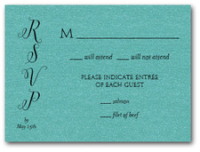 Classic Wedding Teal RSVP