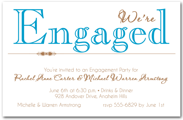 Peacock We're Engaged Party Invitations