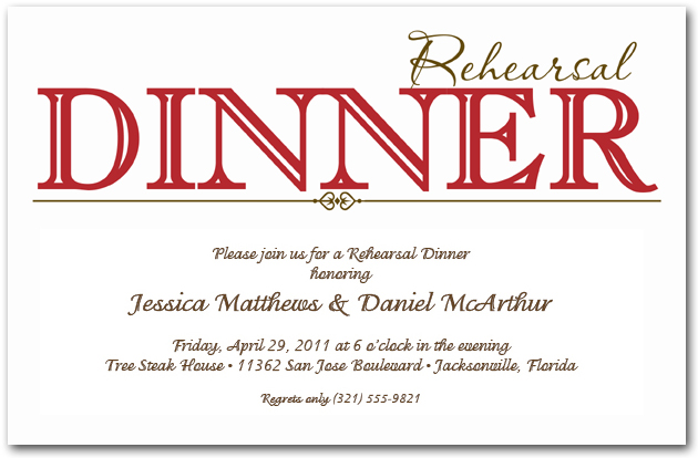 Who Is Invited To The Wedding Rehearsal Dinner: Red Rehearsal Dinner Invitations, Red Wedding Rehearsal