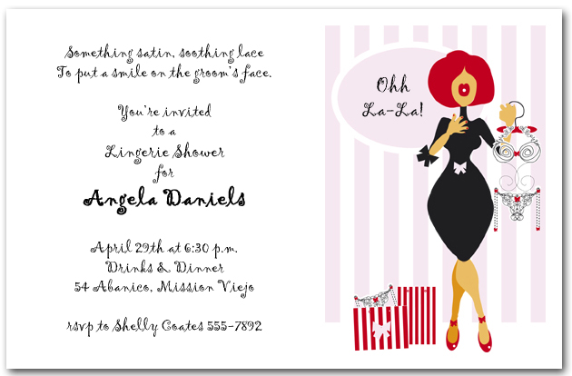 Funny Wedding Invite Poems: Lingerie Store Bridal Shower Invitations, Lingerie Shower