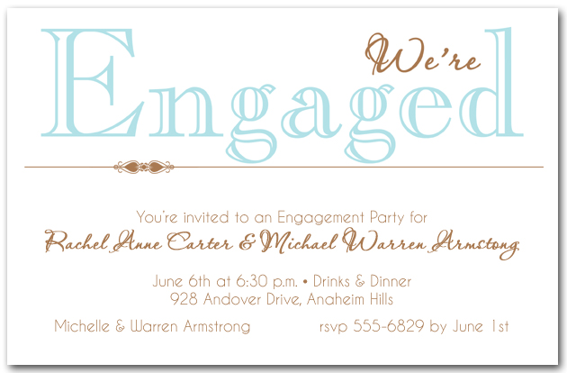Tiffany Blue We Re Engaged Party Invitations