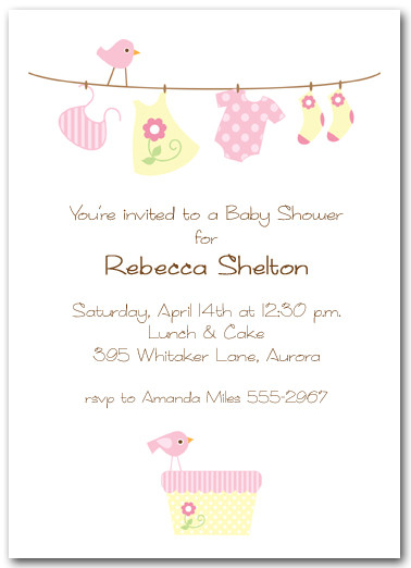 Baby Laundry Pink Shower