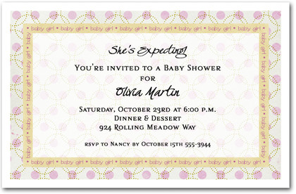 Dotted Little Girl Shower