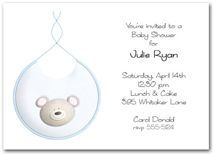 Bib Bear Boy Baby Shower