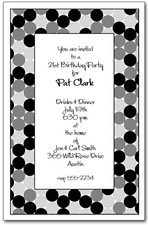 Circles Shades of Black Invitations