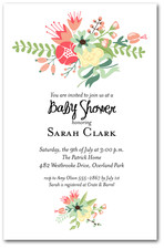 Flower Garden Baby Shower Invitations