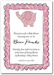 Baby shower invitations baby shower invitations exotic elephant pink filmwisefo Gallery