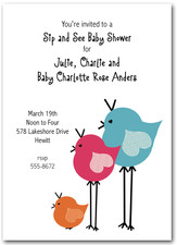 Pretty Birds Baby Shower Invitations