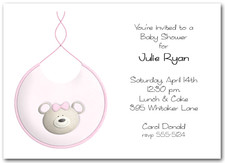 Bib Bear Girl Baby Shower