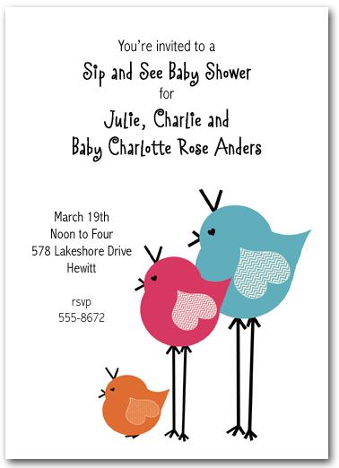 Pretty birds baby shower invitations filmwisefo