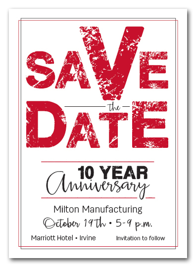 Edgy Red Business Save the Date Cards