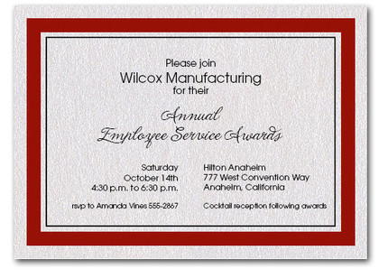 Burgundy Bordered Business Invitations