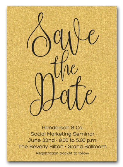 Gold Business Save the Date