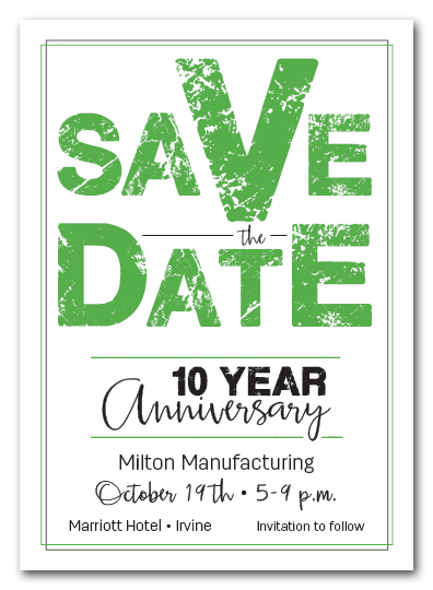 Edgy Green Business Save the Date Cards