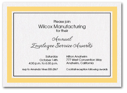 Goldenrod Bordered Business Invitations