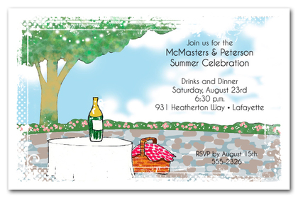 Party on the Patio Company Celebration Invitations