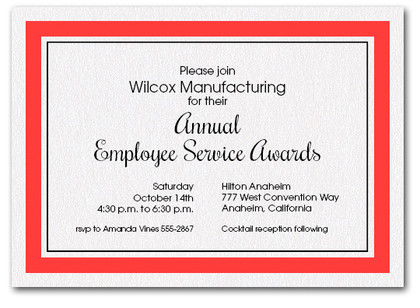 Scarlet Bordered Business Invitations