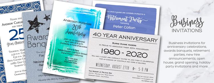 Business Invitations | Corporate Invitations