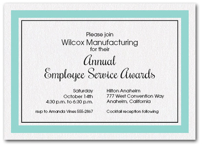 Tiffany Blue Bordered Business Invitations